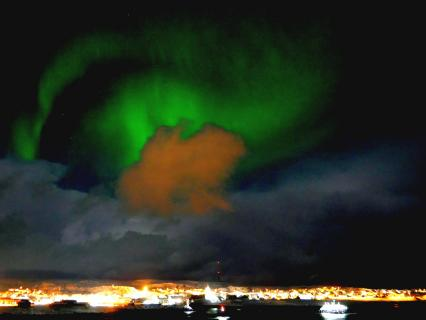 Nordlicht Nähe Tromsoe