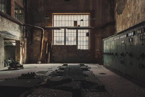 verlassene Papierfabrik