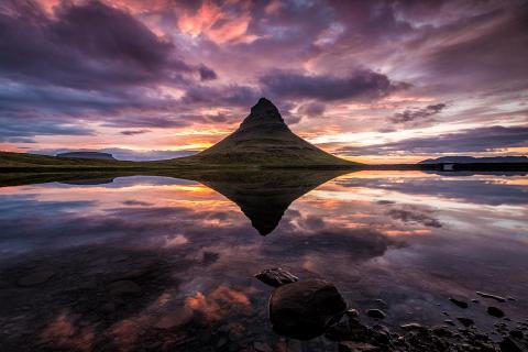 Reflection of Mount Kirkjufell