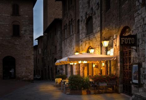 Kaffee in San Gimignano