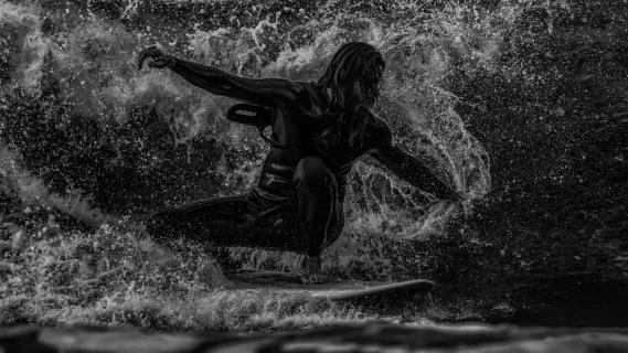 Jesus in der Welle