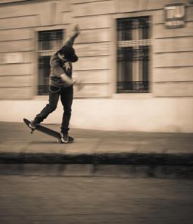 Skater am Karlsplatz