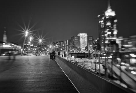 Abends auf der Promenade