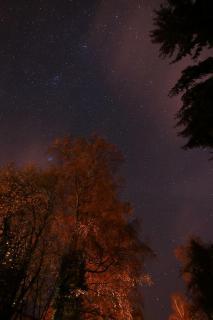 Herbsthimmel mit Plejaden