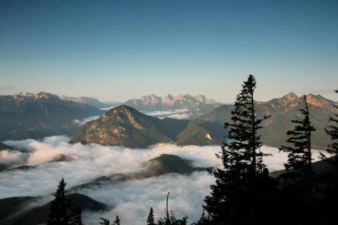 Blick vom Zwiesel auf Sonntagshorn und Loferer Steinberge