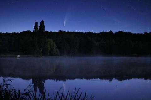Komet Neowise über dem Steinertsee