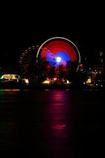 Urfahraner Jahrmarkt (Linz, A) bei Nacht