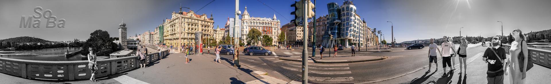 360° Panorama Tanzendes Haus Prag