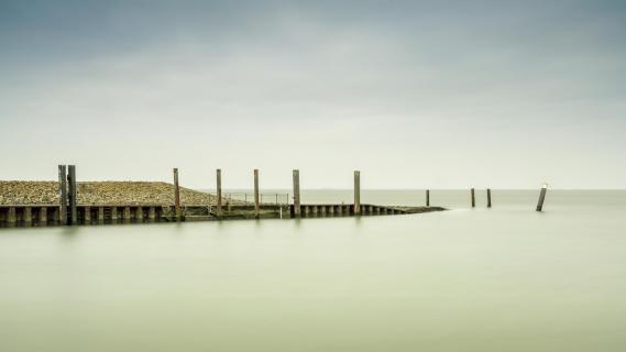Hafeneinfahrt auf Nordstrand