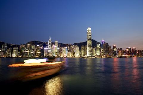 Hongkong Island At Night