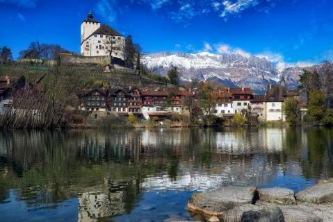 postcard with Swiss Sujets