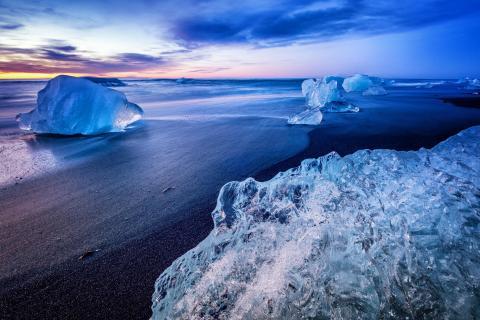 ice in the sunrise