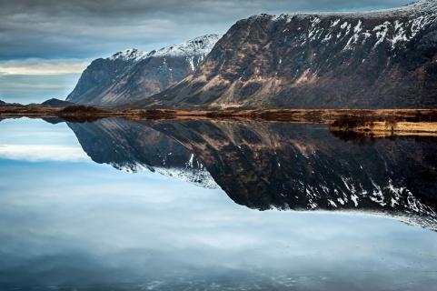 Mountains upside down