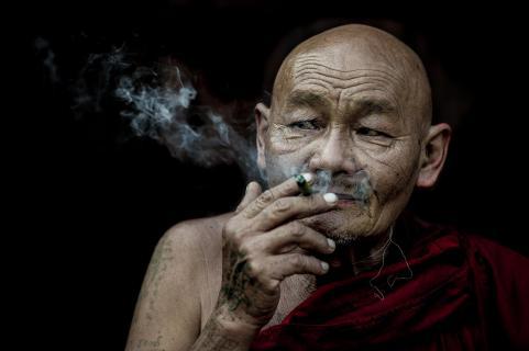 rauchende monch