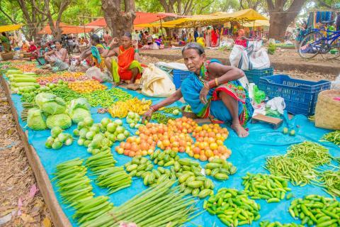 lokaler Markt in Orissa