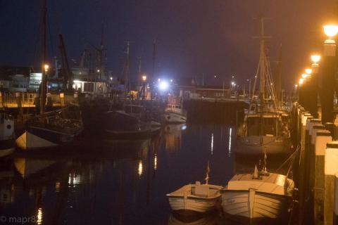 Büsumer Hafen bei Nacht