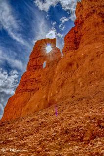 Sonne im Felsenloch - Bryce Canyon