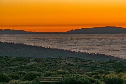 Sonnenuntergang NP Teide Teneriffa