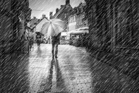 Nuits-Saint-Georges im Regen