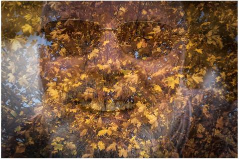 Herbstliches Selbstportrait