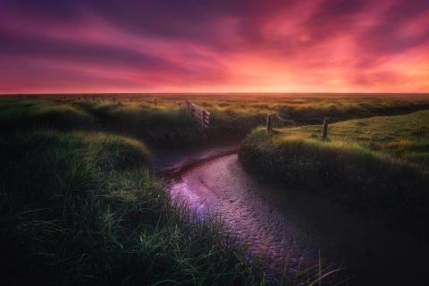 Westerhever Sonnenuntergang