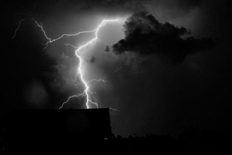 Blitzeinschlag s/w