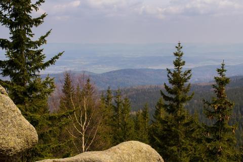 Ausblick im polnischen Riesengebirge
