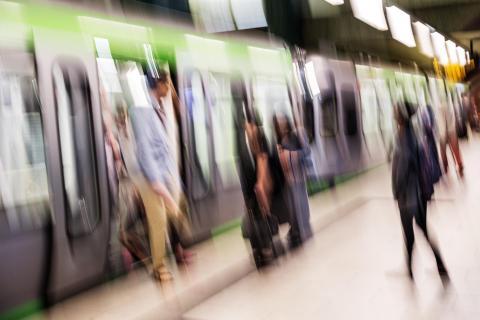 Auf der U-Bahn-Station