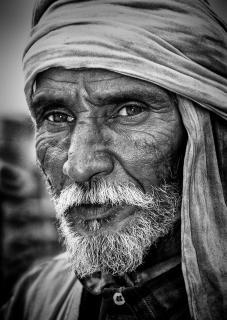 Mann mit Turban