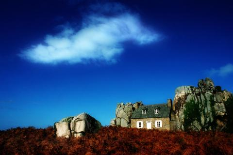 Haus im Felsen