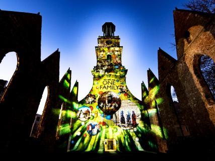Lichtinstallation Aegidienkirche