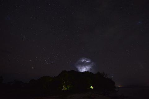 Unwetter auf Kabakon, Papua Neuguinea