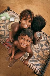 happiness of the poor children