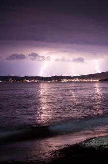 Lightning above Thassos