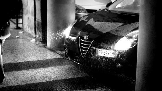 Alfa Romeo im Winterregen