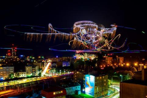 Gdynia bei Nacht