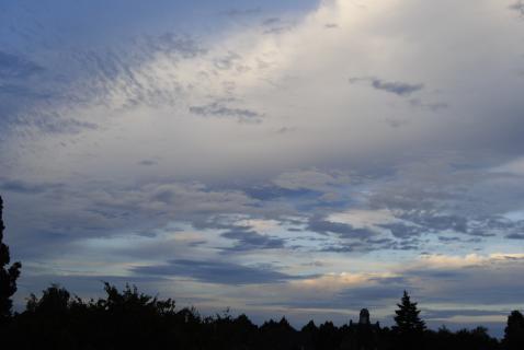 Wolken über Krefeld