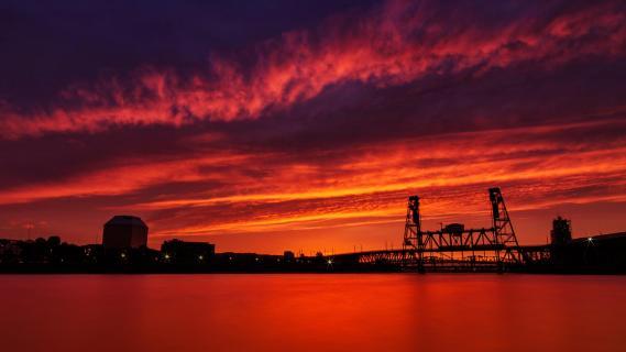 Sundown in Portland