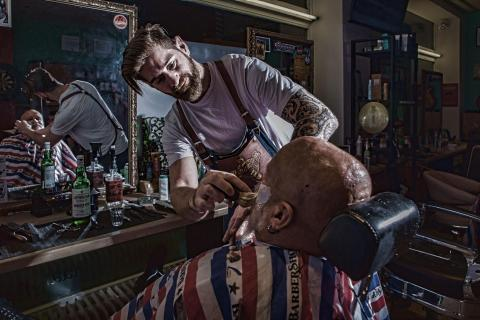 Barber in Action