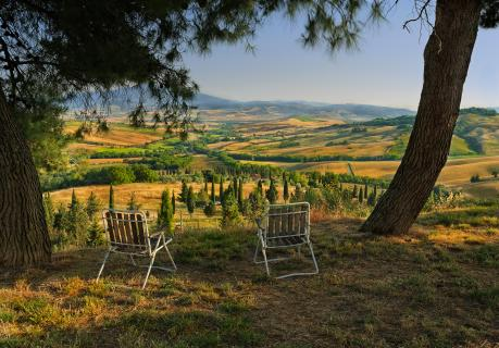 View in Tuscany