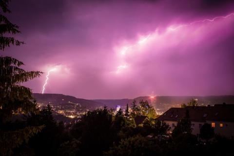 Gewitter über Jena