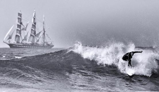 Wassersport auf dem Atlantik