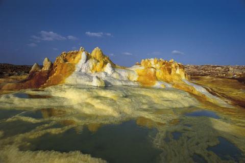 Salzablagerungen, Dallol, Äthiopien