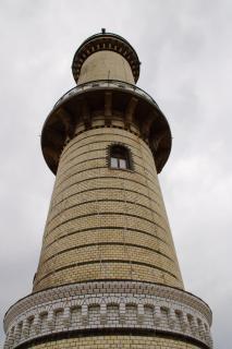 Leuchtturm in der Stadt Warnemünde