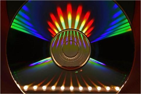 CD im LED Licht