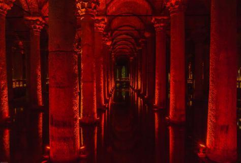 Leuchtender Untergrund