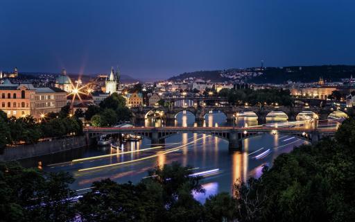 Night Viewpoint at Prag