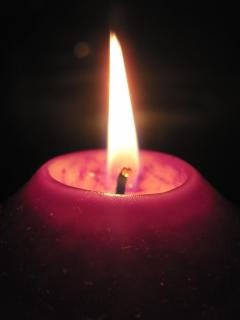 Lila Kerzenschein