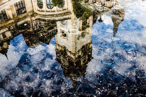 Spiegelung Schloss Peles