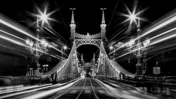 Action auf der Freiheitsbrücke